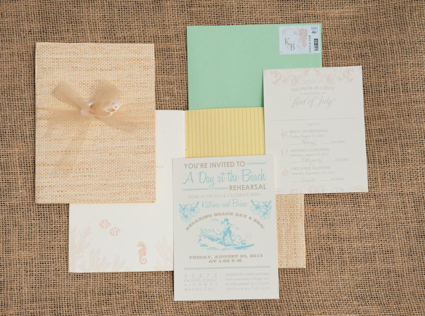 Katrina Hodgson Tone It Up Wedding Invitation