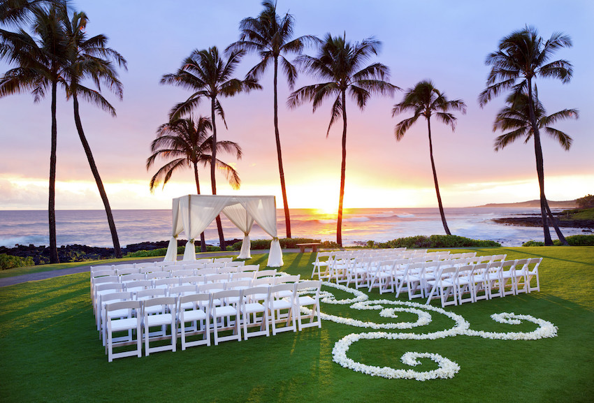 Sheraton Kauai Resort Ocean Lawn Wedding