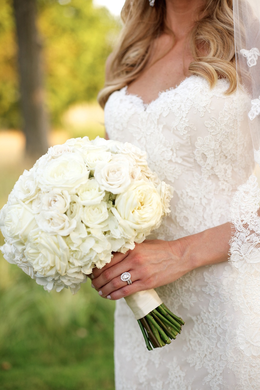 Hydrangea and Spray Rose White Bouquet