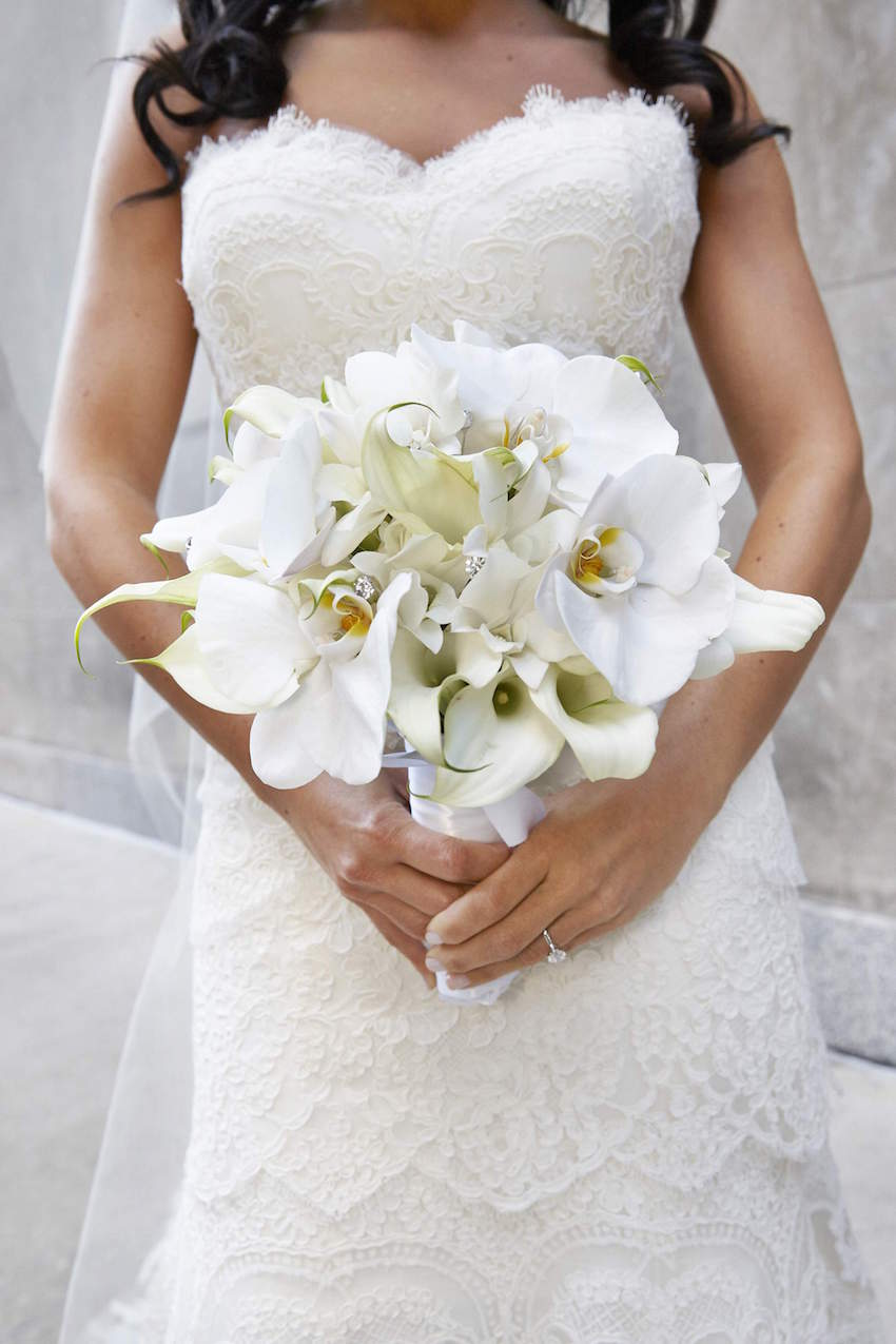 White Orchid and Calla Lily Bouquet