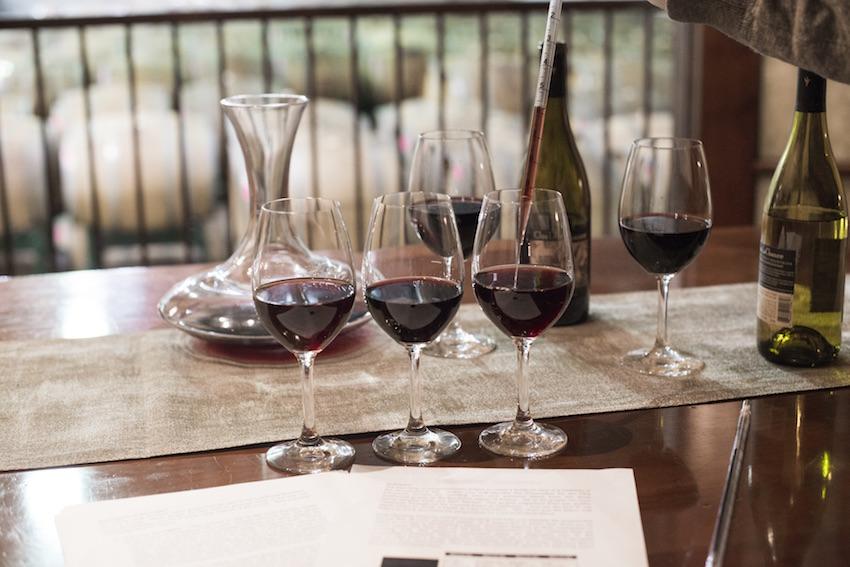 Wine Flight at Clos LaChance Winery