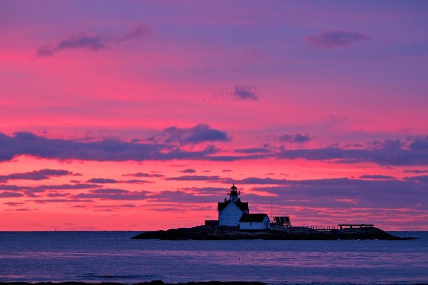 Inn at Cuckolds Lighthouse at Sunset