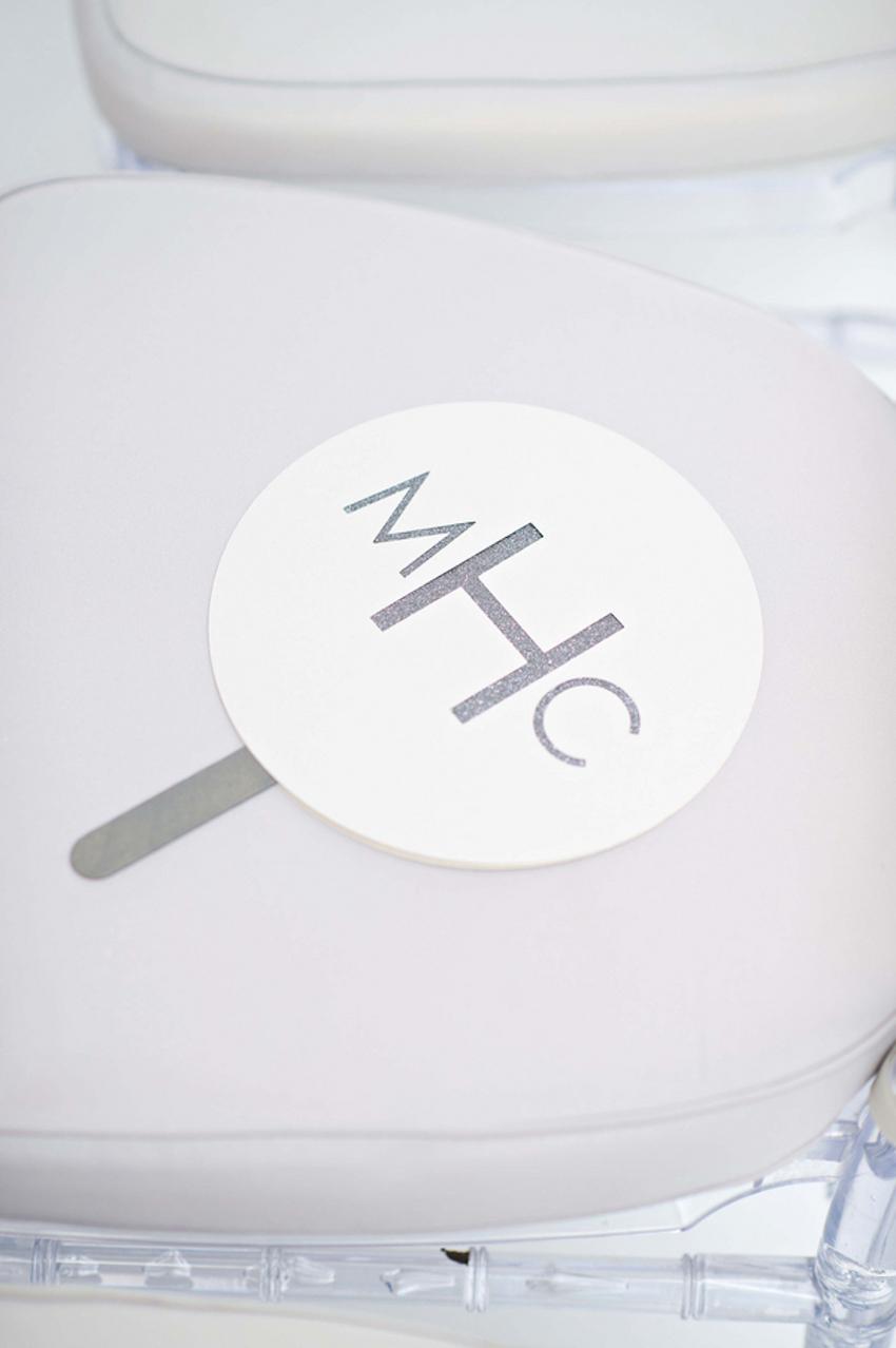 Silver Monogram Handheld Ceremony Fan