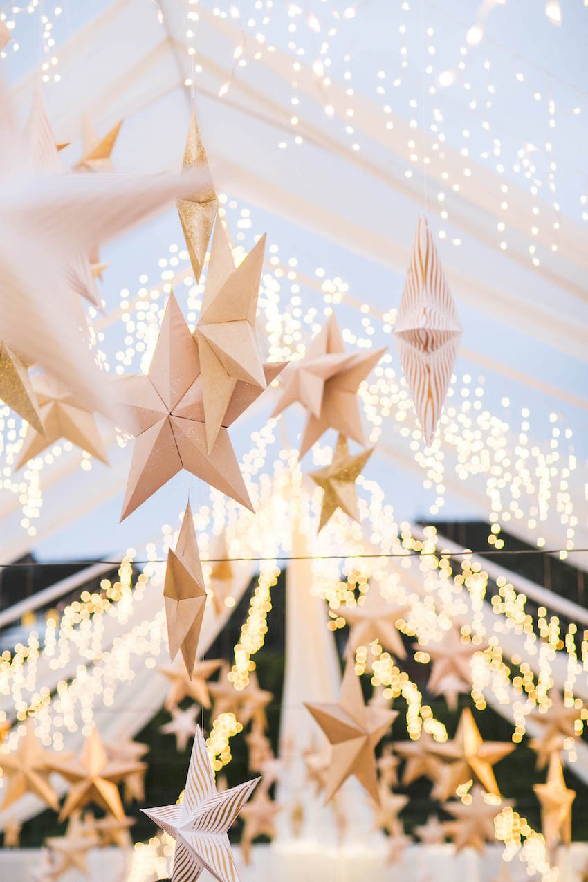 Stars at Outdoor Beach Wedding