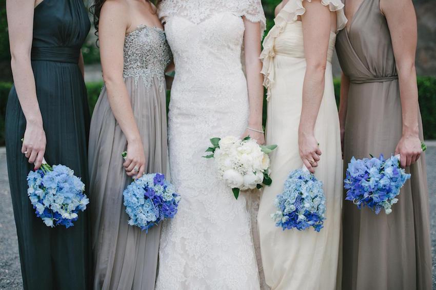 Blue Bridesmaid Bouquets