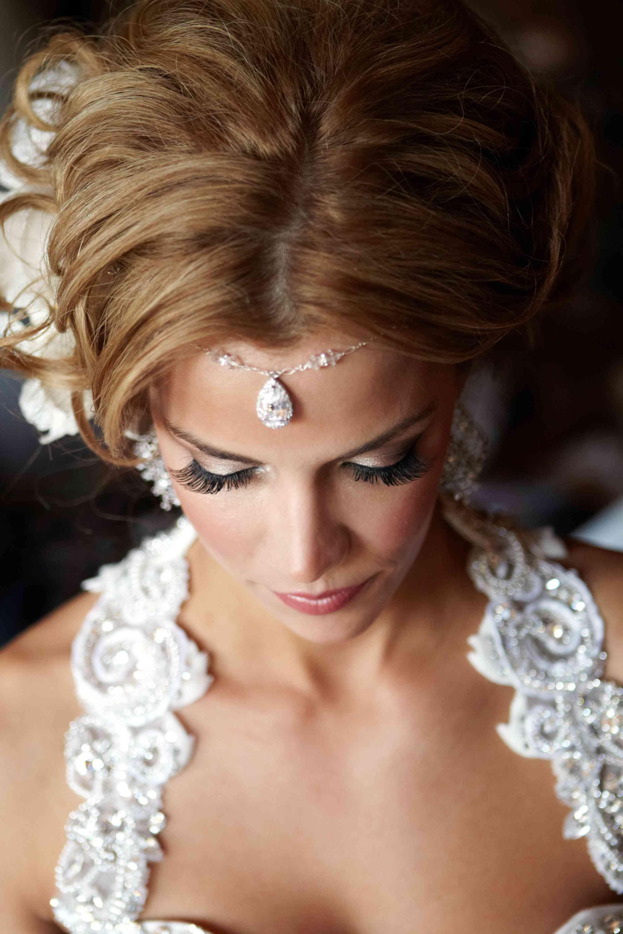 Teardrop Headdress on Boho Bride