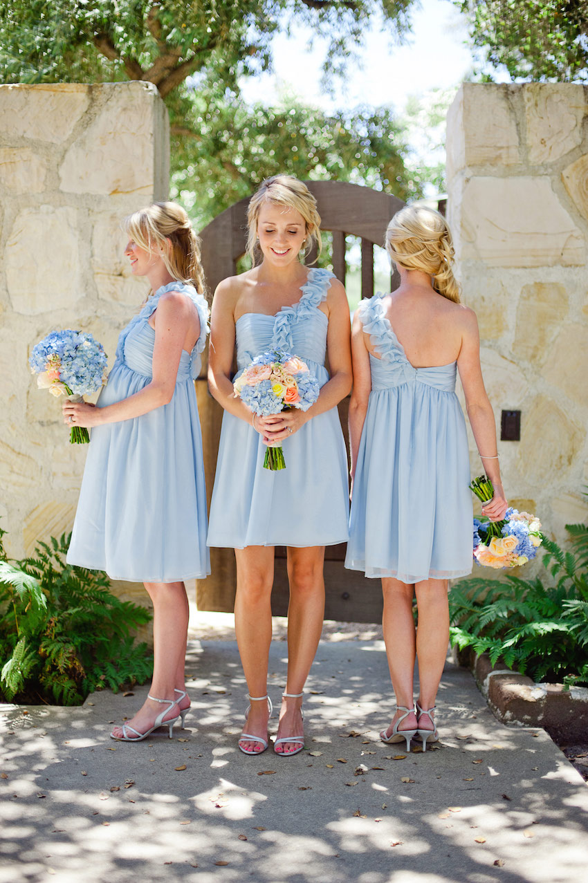 Light Blue Short Bridesmaid Dresses