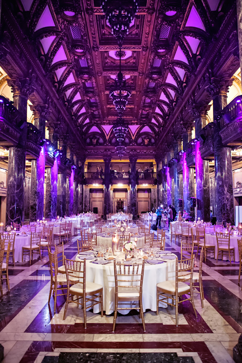 Purple Ballroom Wedding Reception
