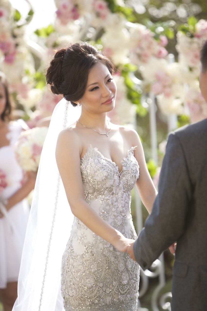 Asian American Bride with Delicate Necklace