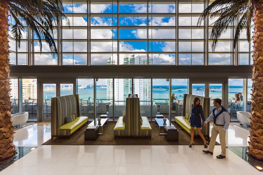Conrad Miami Lobby with Couple