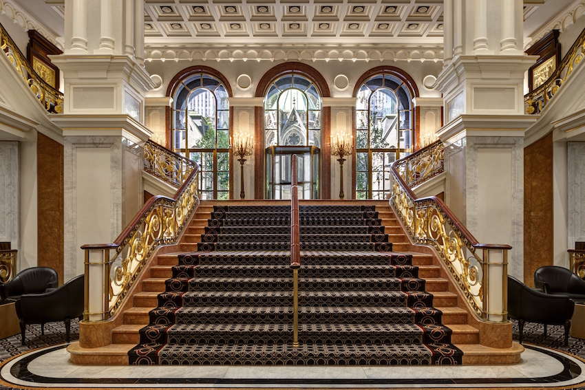 New York Palace Lobby Staircase