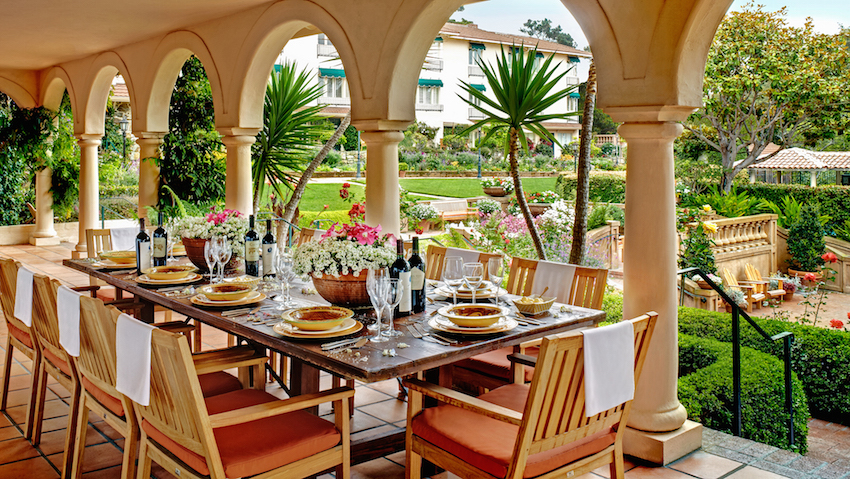 La Playa Carmel Outdoor Dining Area