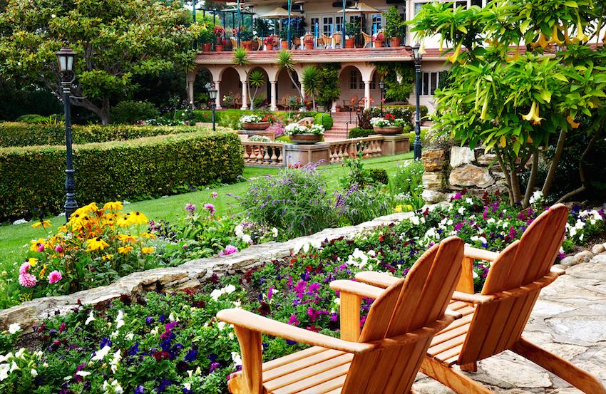La Playa Carmel Terrace Courtyard