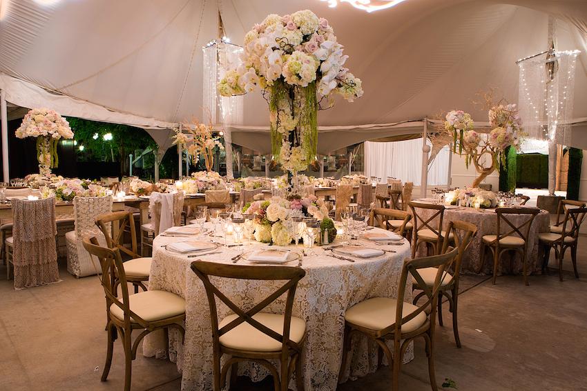 Rustic Tent Wedding Reception