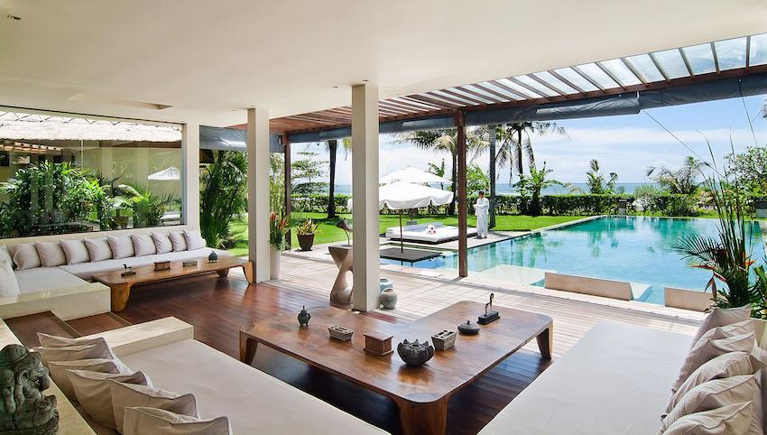 Living Room and Pool at Bali Wedding Venue