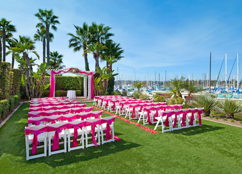 Pink and White Outdoor Ceremony