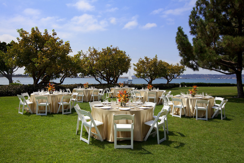 Outdoor Marina Wedding Reception