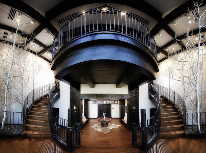 Rustic Big Cedar Lodge Spa Entrance