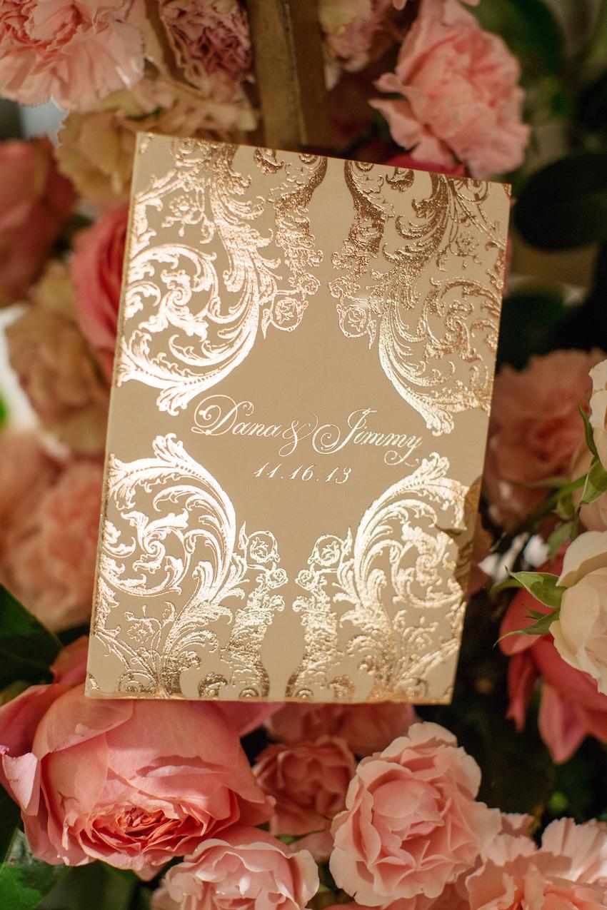 Gold Foil Ornate Wedding Invitation