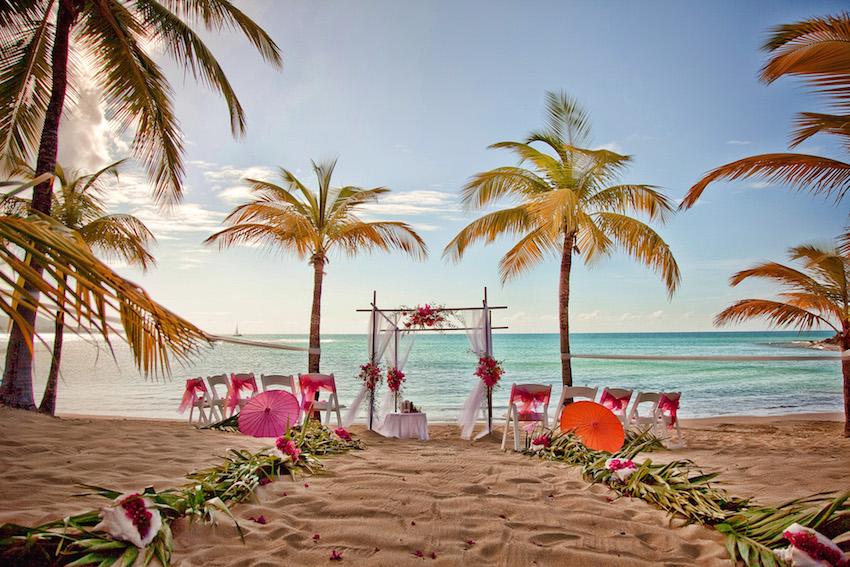 Beach wedding event in St Croix
