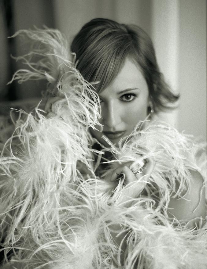 Claire Pettibone in feather boa