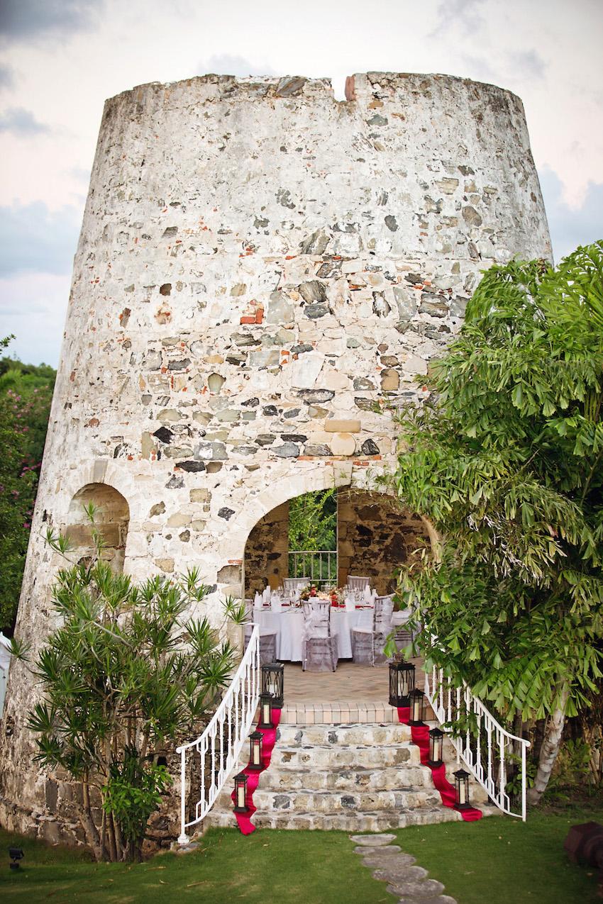 Castle like wedding venue in US Virgin Islands