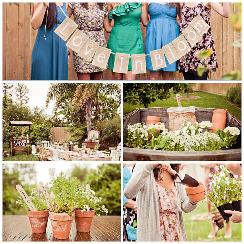 Planting and garden bridal shower