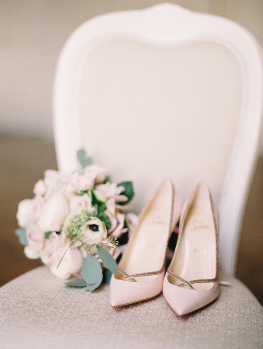 Pink Christian Louboutin Wedding Shoes