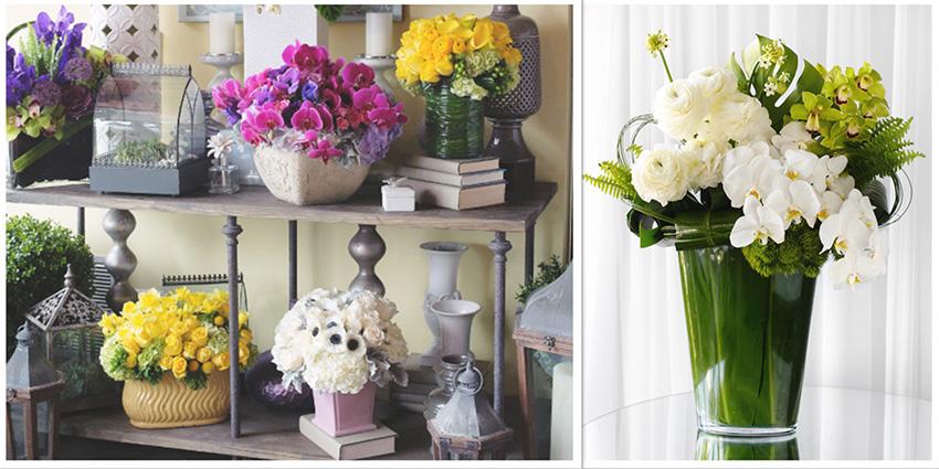 Flowers from The Hidden Garden wedding florist