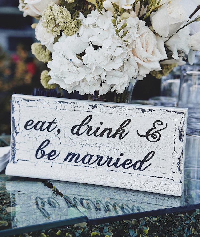 Brittney Palmer Aaron Zalewski wedding sign