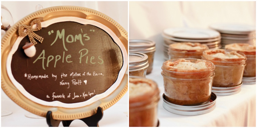 Keri Lynn Pratt homemade pie southern wedding idea