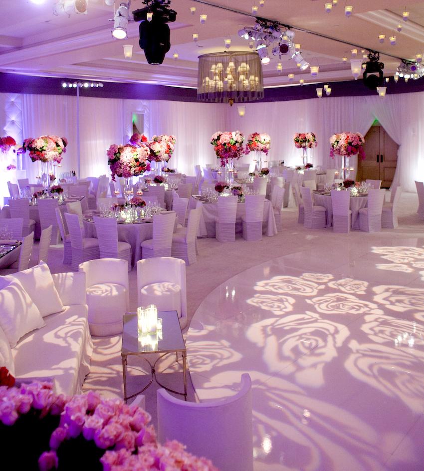 Flower print gobo lighting dance floor
