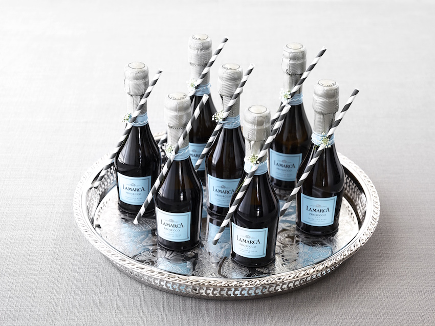 La Marca Prosecco mini blue bottles