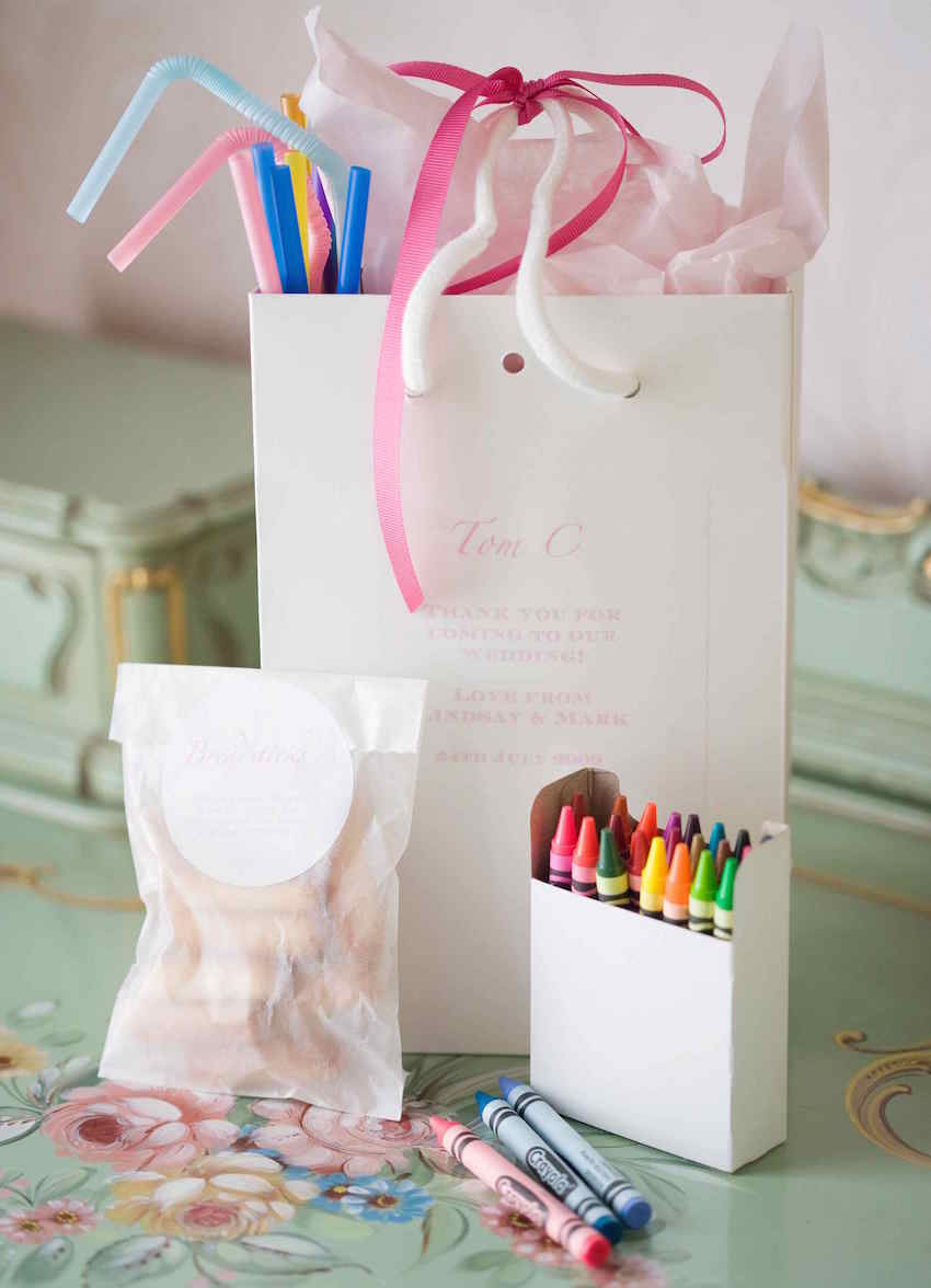 Goodie bag for children at a wedding