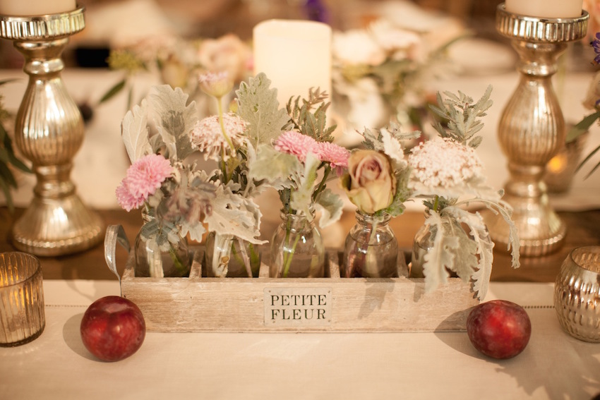 Rustic wedding centerpiece wood box