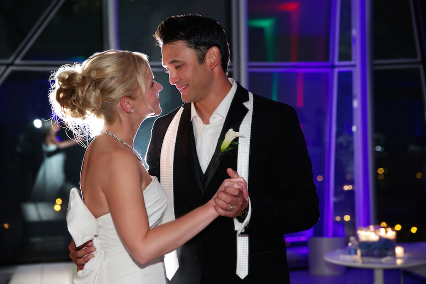 Chicago bride and groom first dance