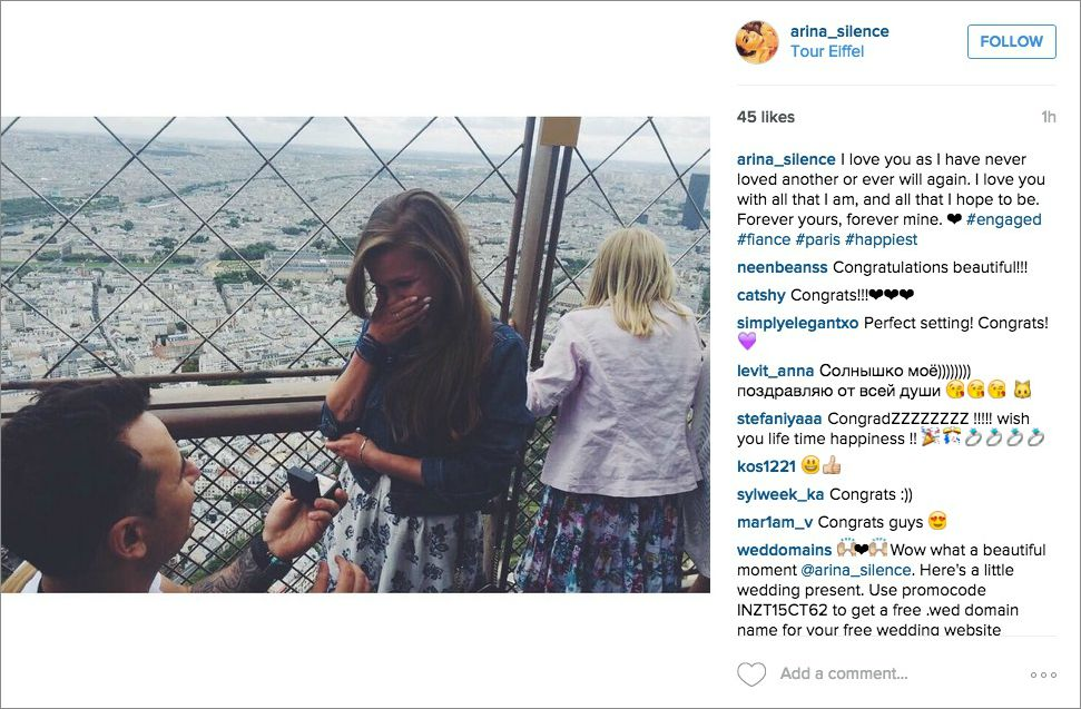 Paris Proposal Instagram announcement