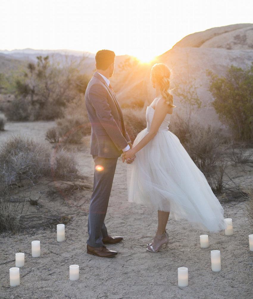 Sunset hand holding engagement photo