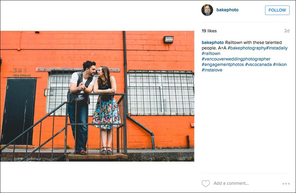 Hipster engagement photo
