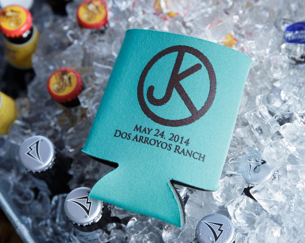 custom wedding drink koozie