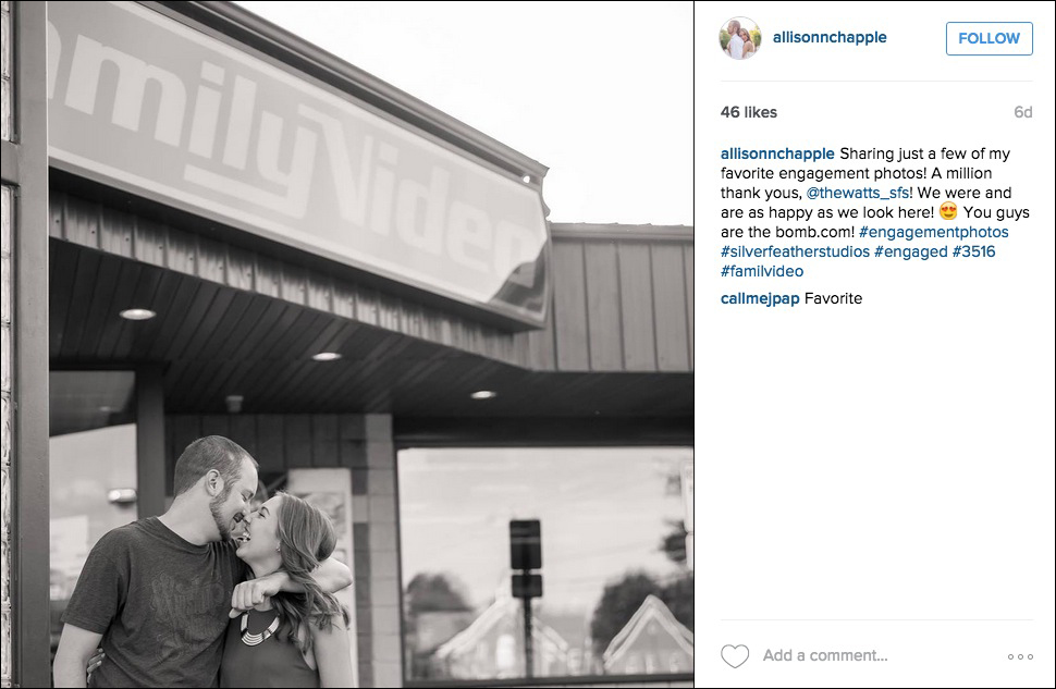 Video store engagement photo