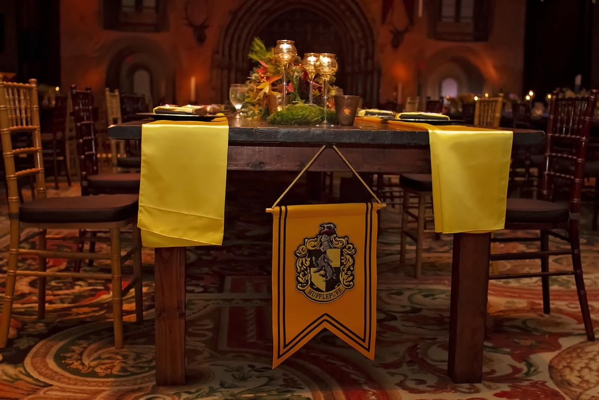 hufflepuff wedding table