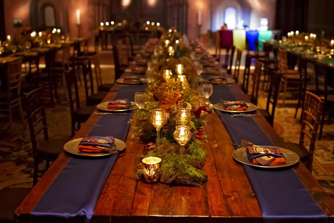 ravenclaw wedding table