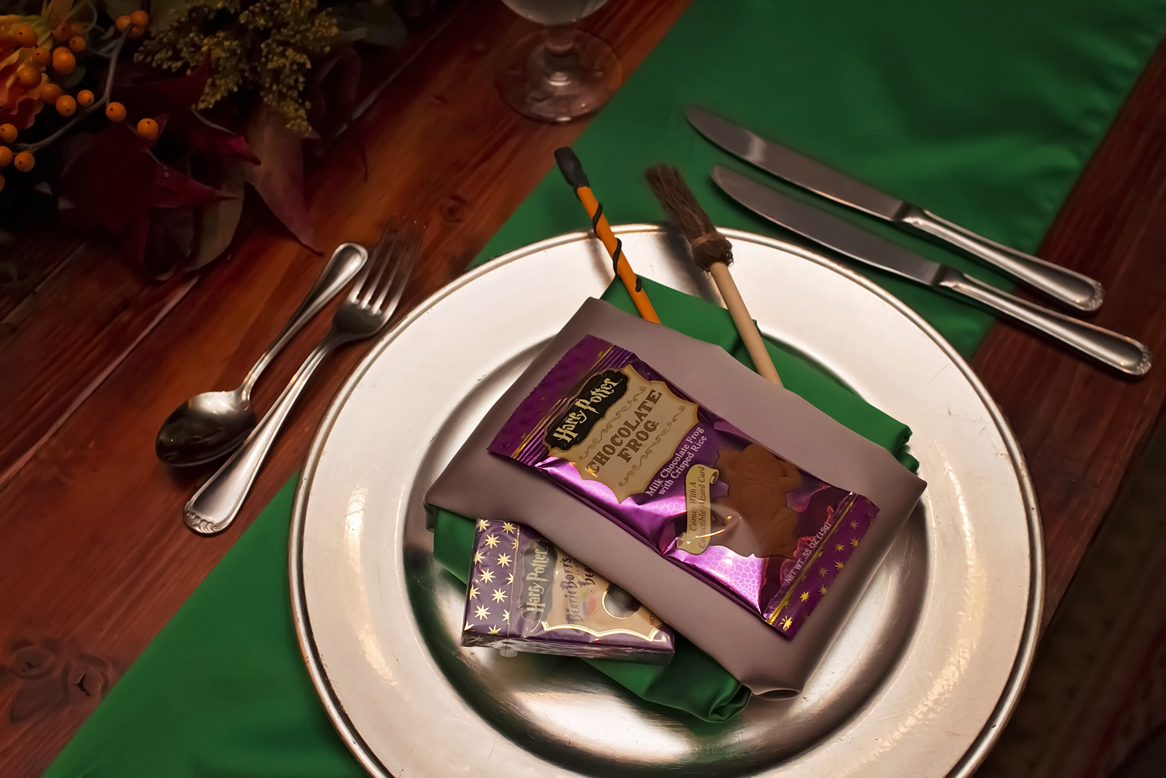 chocolate frog place setting