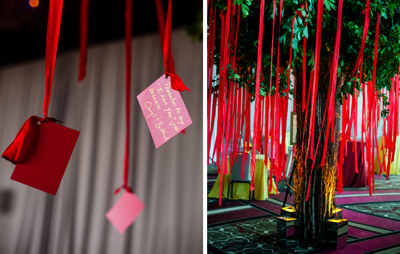 red ribbon wishing tree