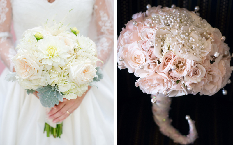 pearl bouquets
