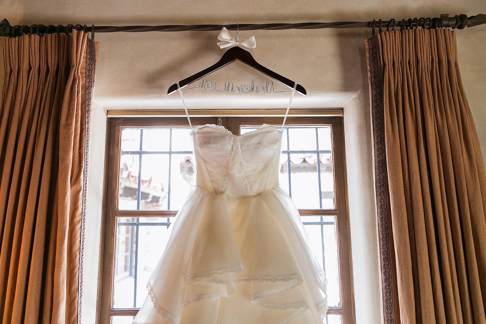 personalized dress hanger