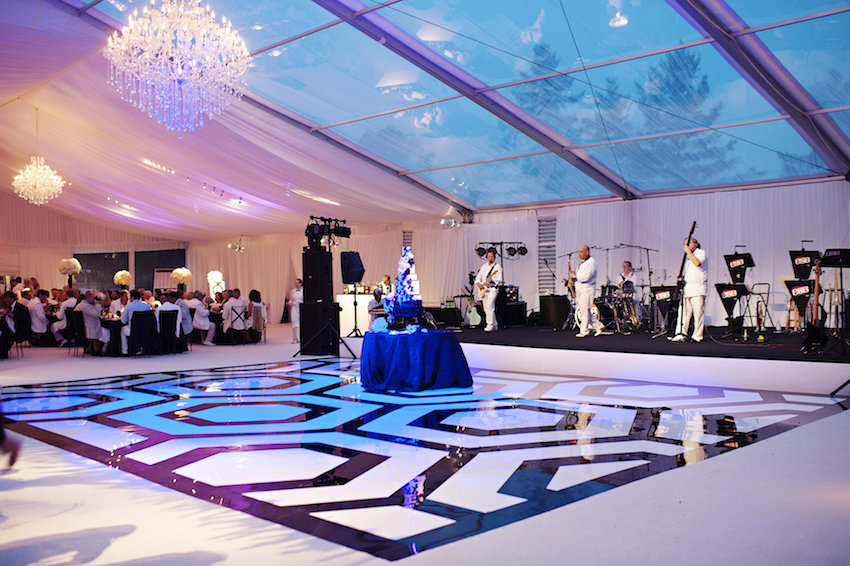 Black and white custom dance floor