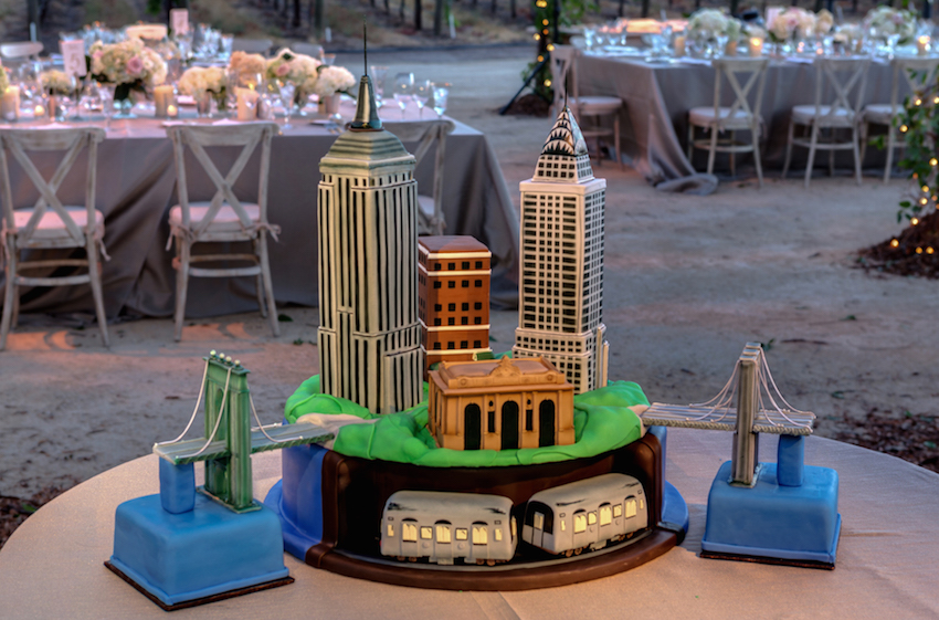 Wedding ideas groom's cake New York City skyline