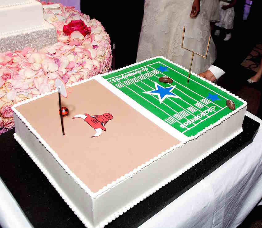 Chicago Bulls and Dallas Cowboys groom's cake
